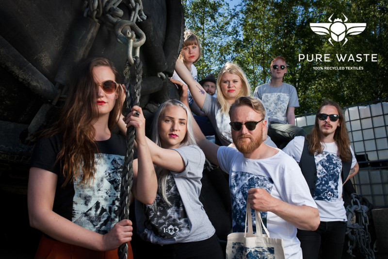 Pure Waste shirts and bags for h2šö festival 2015 Photo: Maria Halkilahti